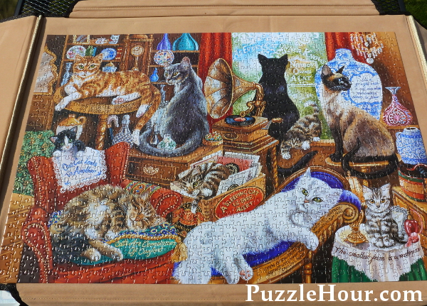 completed a cat is a puzzle to which there is no solution past times jigsaw puzzle cats kittens quotes