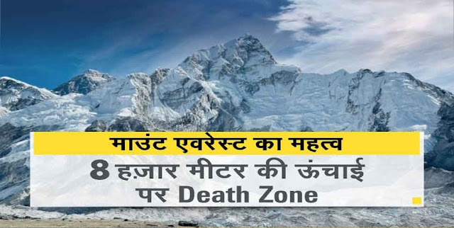 INTERESTING & AMAZING FACTS ABOUT MOUNT EVEREST IN HINDI