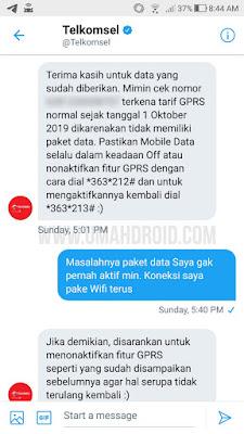 Menanyakan CS Telkomsel Tentang Pulsa Simpati Tersedot