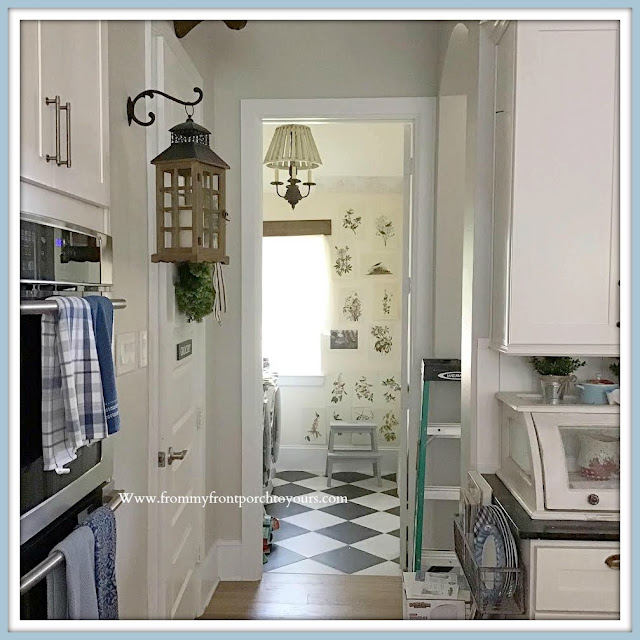 Laundry Room Makeover Farmhouse Cottage Style-Wallpaper Options-From My Front Porch To Yours