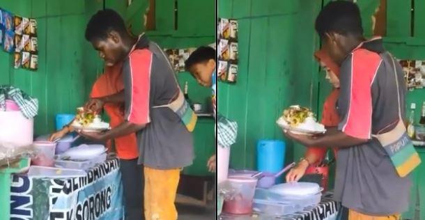 Ambil Nasi Segunung Saat Makan Diwarung, Pria ini Bikin Penjual Emosi!!