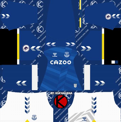 Everton FC Kits 2021/2022 -  DLS2019 Kits