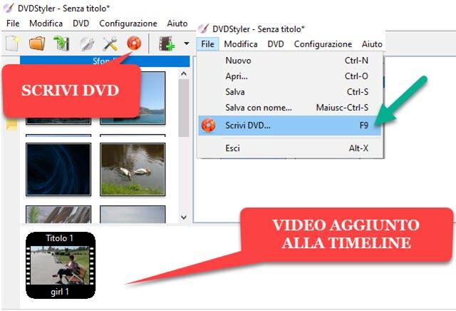 masterizzare DVD video con DVDStyler