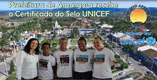 Prefeitura de Amargosa recebe o Certificado do Selo UNICEF