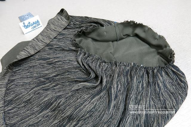 camiseta con falda fruncida