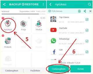 cara backup restore aplikasi Hp android