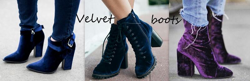 velvet boots trend