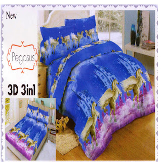 sprei 3d lady rose Pegasus