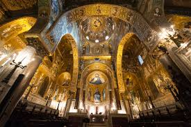 The extraordinary Byzantine mosaics that decorate the interior of the Cappella Palatina in Palermo