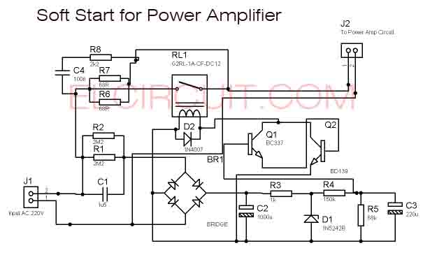 Soft Start For Power Amplifier Circuit