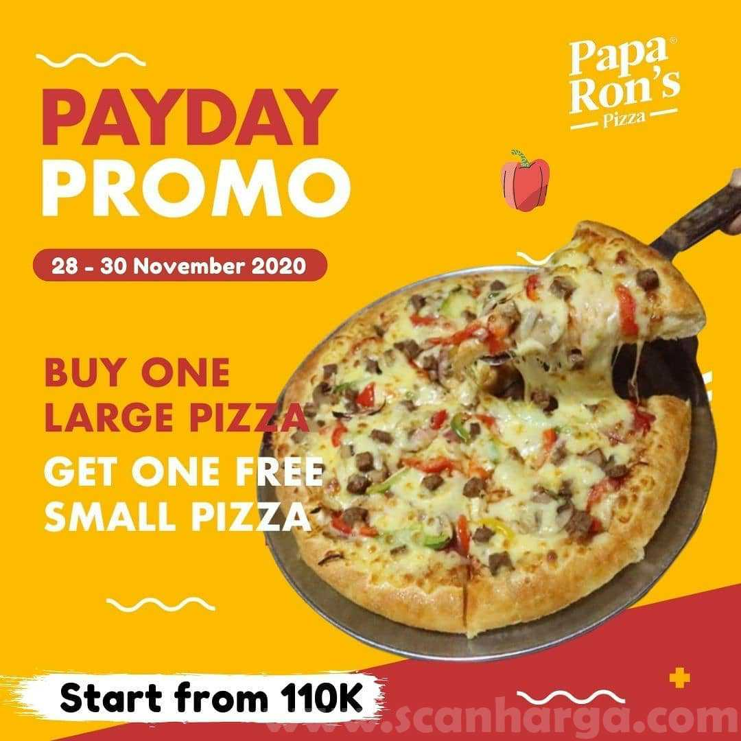 Papa Ron's Pizza Promo Payday Beli 1 Gratis 1