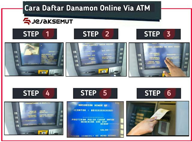 cara daftar danamon online banking via atm