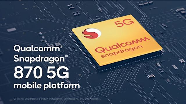 شركة Qualcomm تعلن رسميا عن معالجها الجديد Snapdragon 870 5G بتردد 3.2 جيجاهرتز