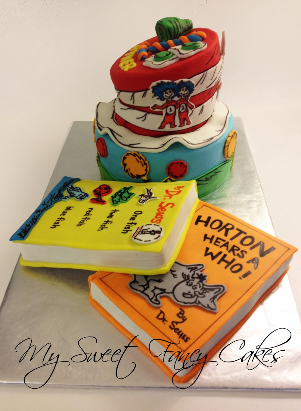 My Sweet Fancy Cakes Dr Seuss Cake With Books