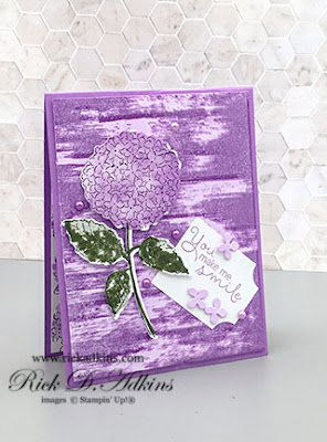 You Make Me Smile Card with the Hydrangea Haven Stamp Set and Hydrangea dies using the Off set stamping technique.  Click to learn more