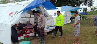 Demi Keamanan Pasca Banjir Bandang, Personil Satsabhara Polres Luwu Utara Rutin Laksanakan Patroli
