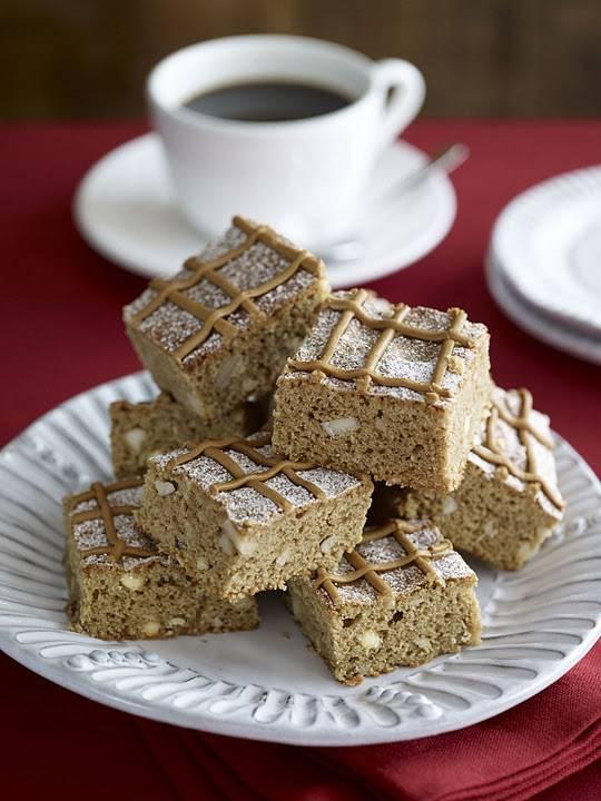 Douwe Egberts Mocha and Nut Blondies: Afternoon Tea Recipe.