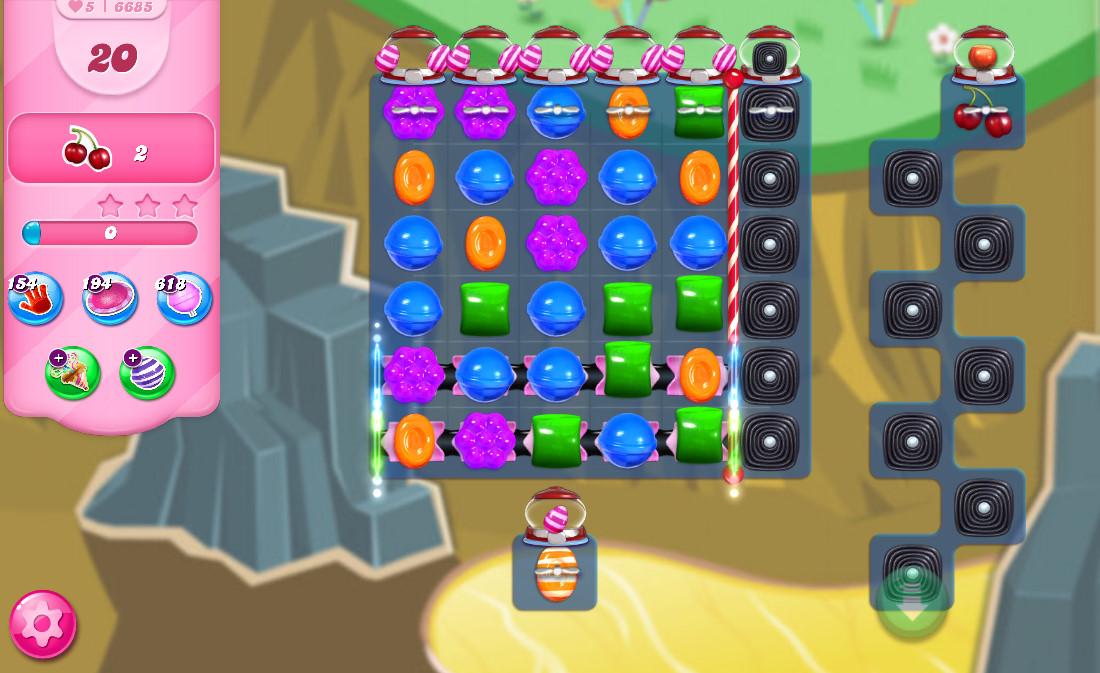 Candy Crush Saga level 6685