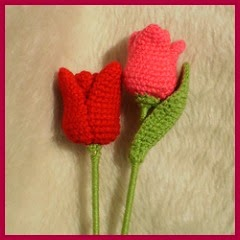 Tulipanes a crochet