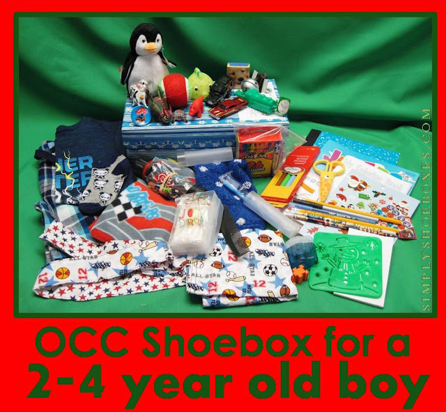 2-4 boy Operation Christmas Child Shoebox