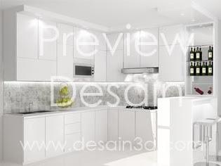Desain Kitchen set Mozaik Putih Duco