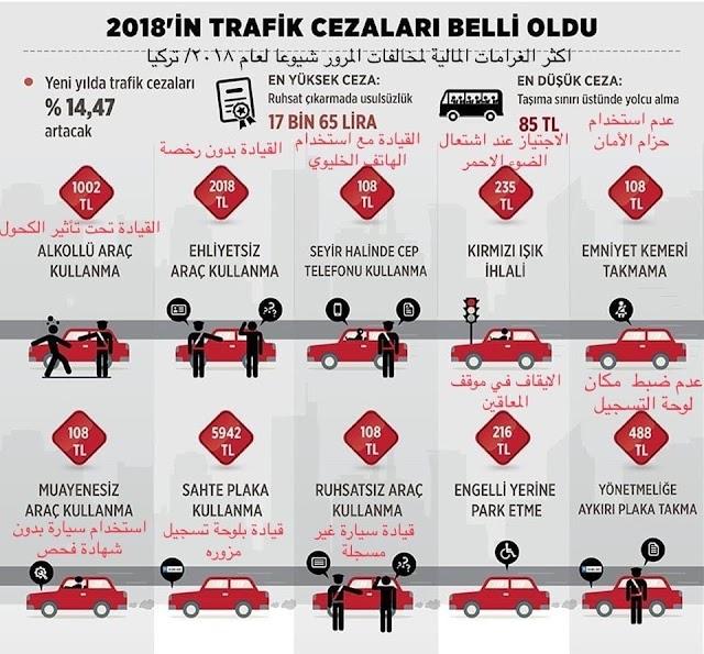 هذه بعض المخالفات المرورية الشائعة في #تركيا