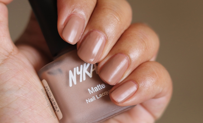 Nykaa Matte Nail polish Nutcracker Dreams review