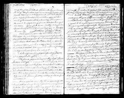 July 6, 1776 New Garden Meeting minutes, receiving Enoch Harlan into Society of Friends again eeting