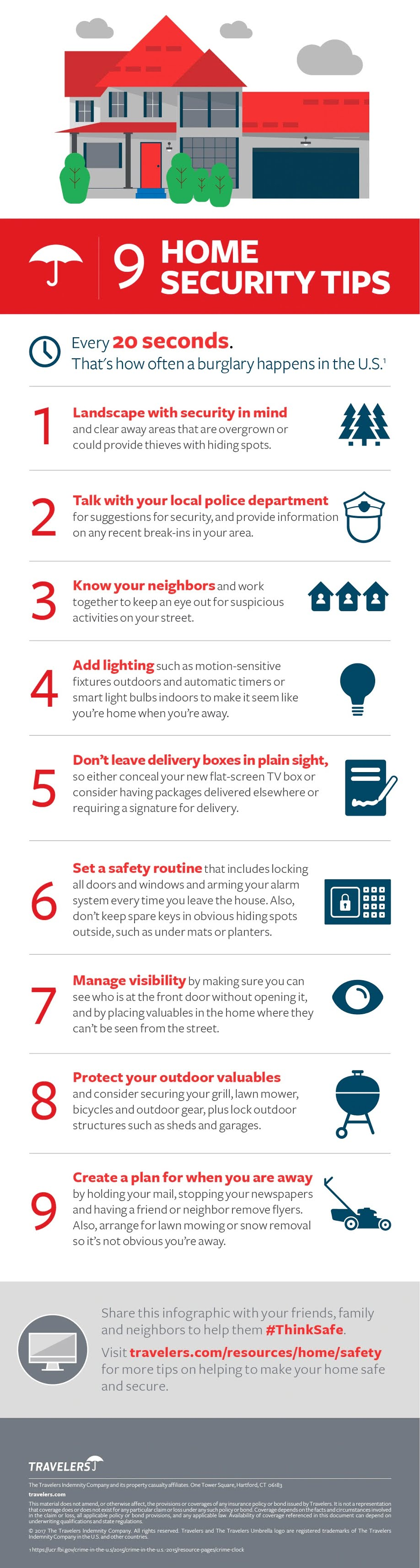 9 Home Security Tips #infographic