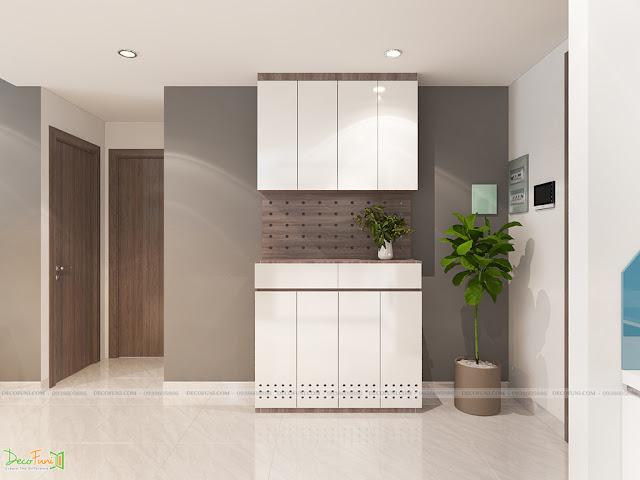 Thiết kế và thi công căn hộ chung cư Compass One - Tp. Thủ Dầu Một, Bình Dương - Tủ giày