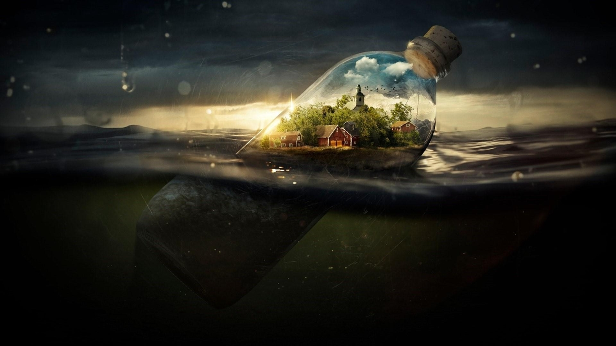 08-Fantasy-world-in-a-bottle-Quentin-Fantasy-Digital-Illustrations-with-a-bit-of-Surrealism-www-designstack-co