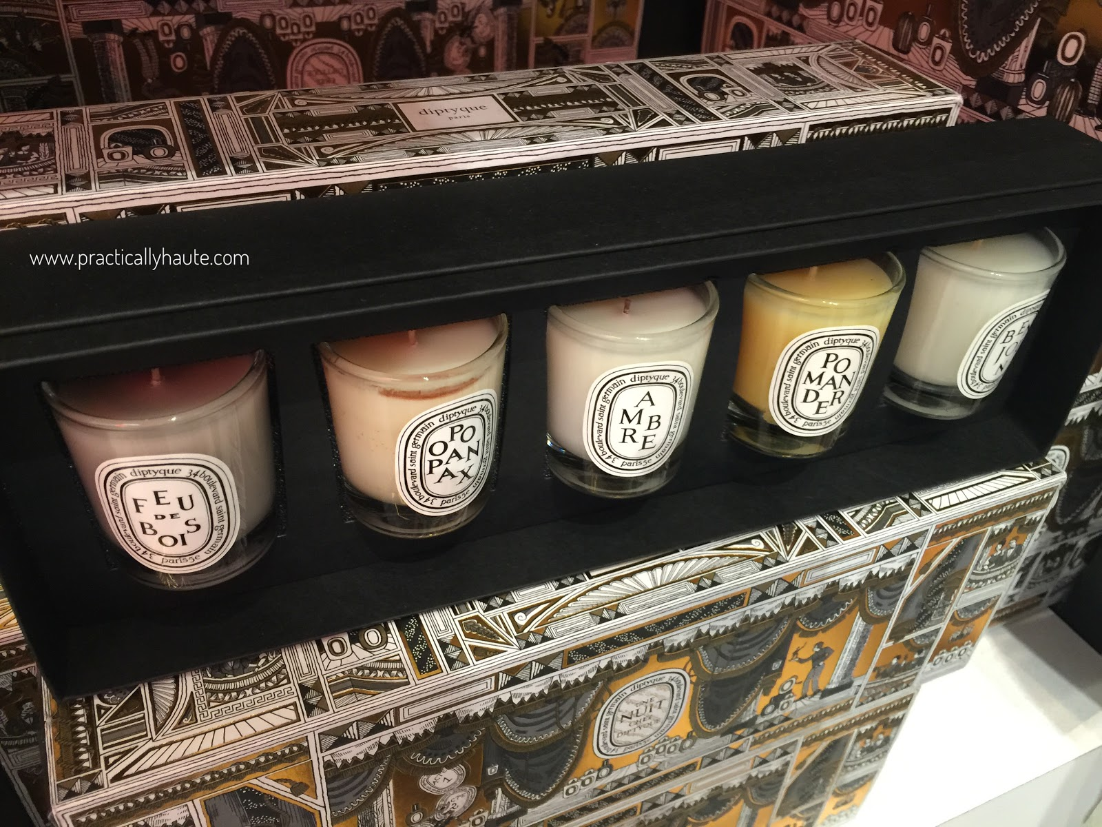 Diptyque sample sale 2016 holiday candle set