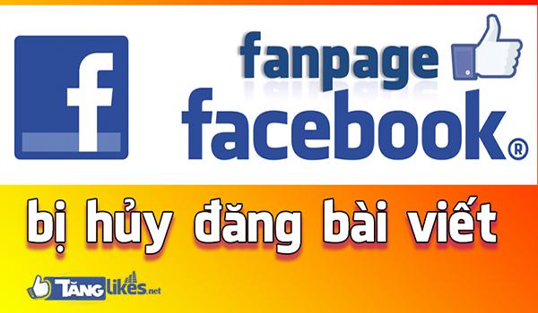huy dang bai len fanpage