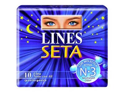 Confezione di assorbenti Lines Seta ultra notte con ali