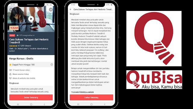 Aplikasi siap kerja QuBisa  meningkatkan kemampuan diri