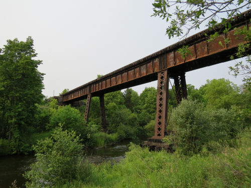 Big Sable River Bridge on Marquette Rail