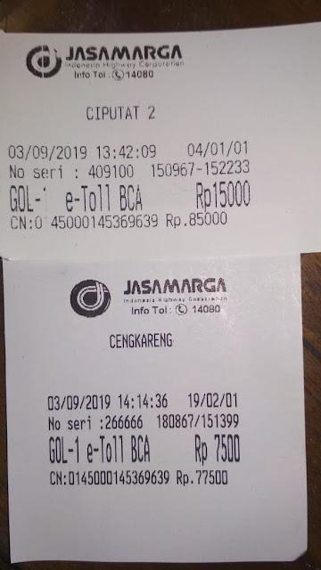 tarif toll menuju bendara soekarno hatta