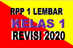 RPP 1 LEMBAR KELAS 1 TEMA 6 KURIKULUM 2013 REVISI 2020 - RPP LURING