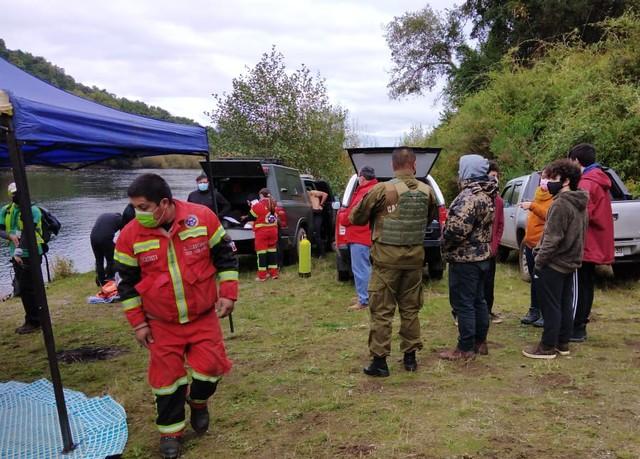 Encuentran cuerpo de hombre desaparecido en el río Bueno