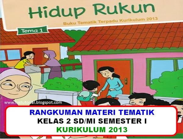 Rangkuman Materi Dan Soal BDR Tematik Kelas 2 SD/MI Kurikulum 2013