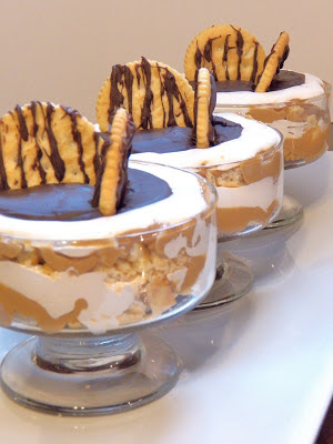 peanut butter and fluff mini trifle