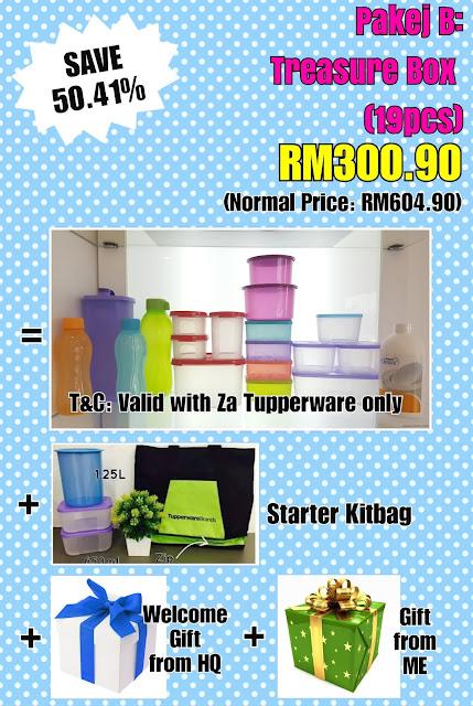 Tupperware Pakej Treasure Box