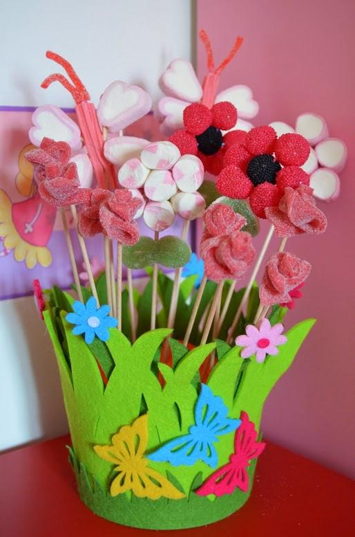 El rinc n de la mariposa maceta de mariposas y flores con - Macetas de chuches ...