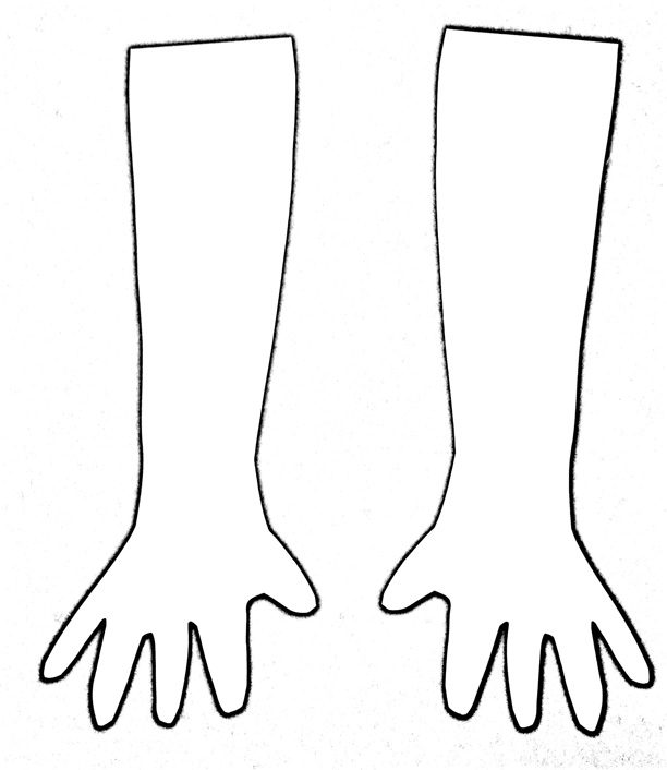 Arms And Hands Coloring Page Coloring Pages