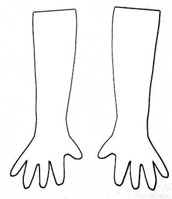 coloring pages of hand prints - photo#48