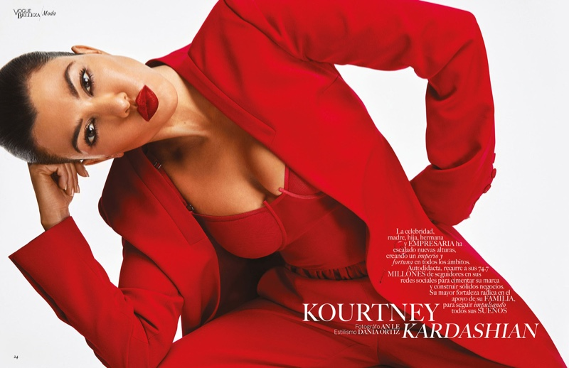 Kourtney Kardashian by An Le for Vogue Mexico Beauty April 2019