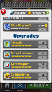 Subway surf unlimited coins and key samsung