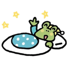 Frog sticker of a respect language.
