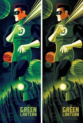 Green Lantern Screen Print by Tom Whalen x Bottleneck Gallery x DC Comics