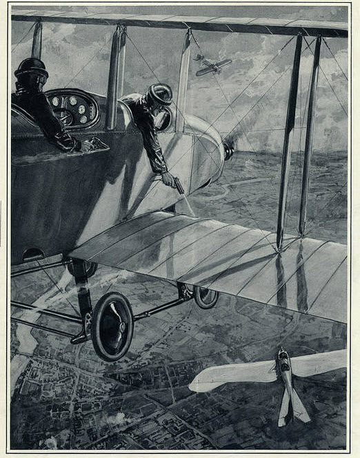 Duel in the air. An artwork that appeared on The Illustrated London News